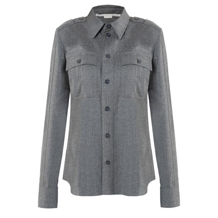 Рубашка с длинными рукавами Stella McCartney HIll серая