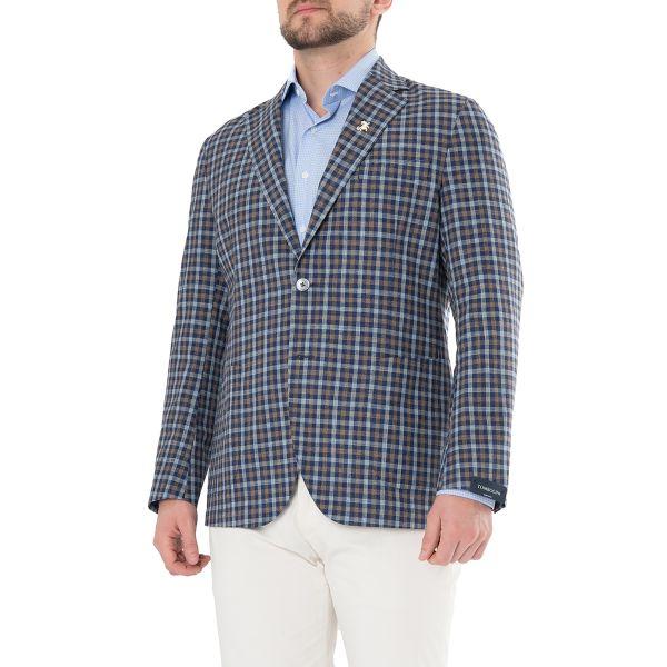 Пиджак Tombolini сине-коричневый