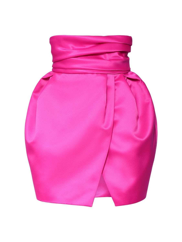 Юбка-мини Alexandre Vauthier розовая