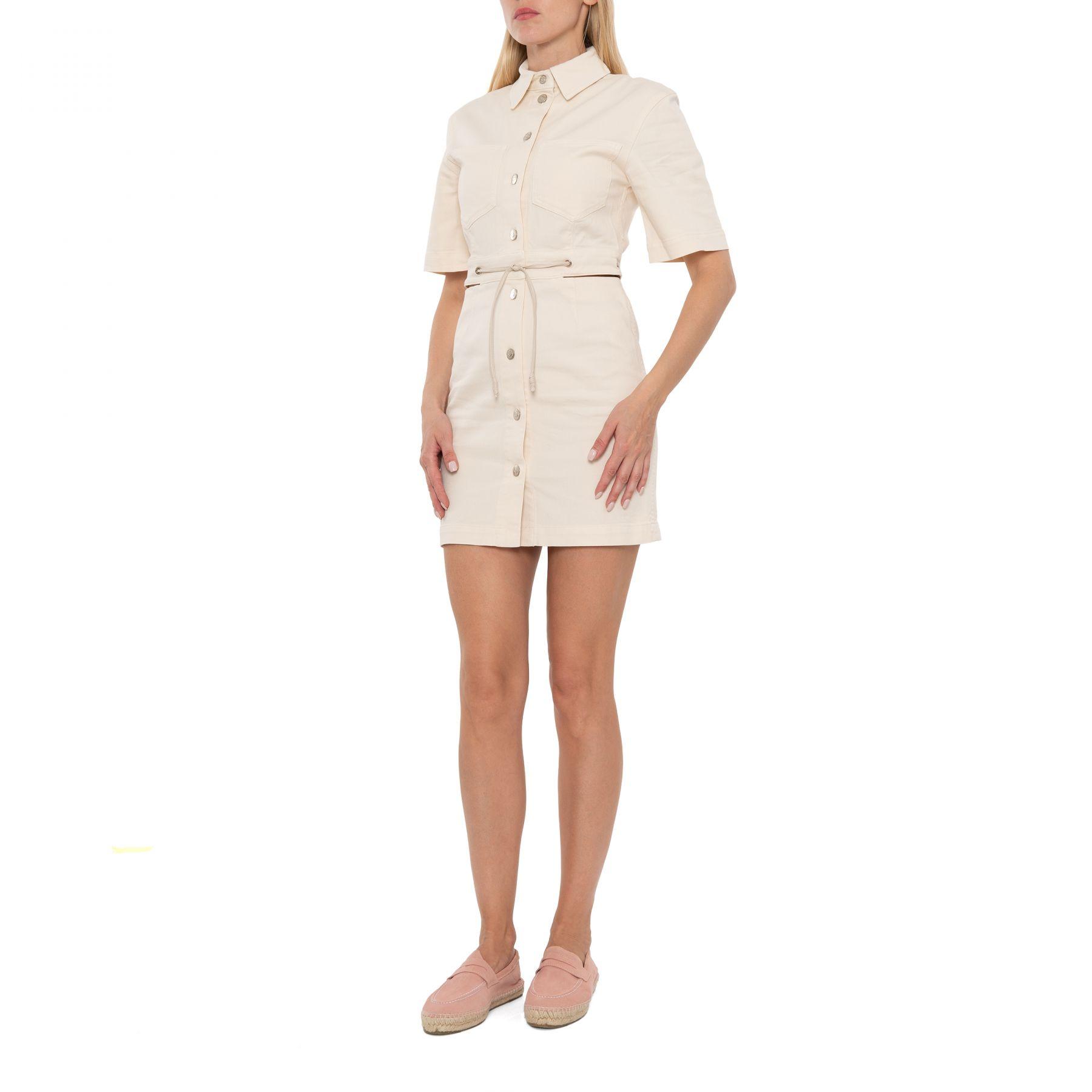 Платье Nanushka Taylor кремовое