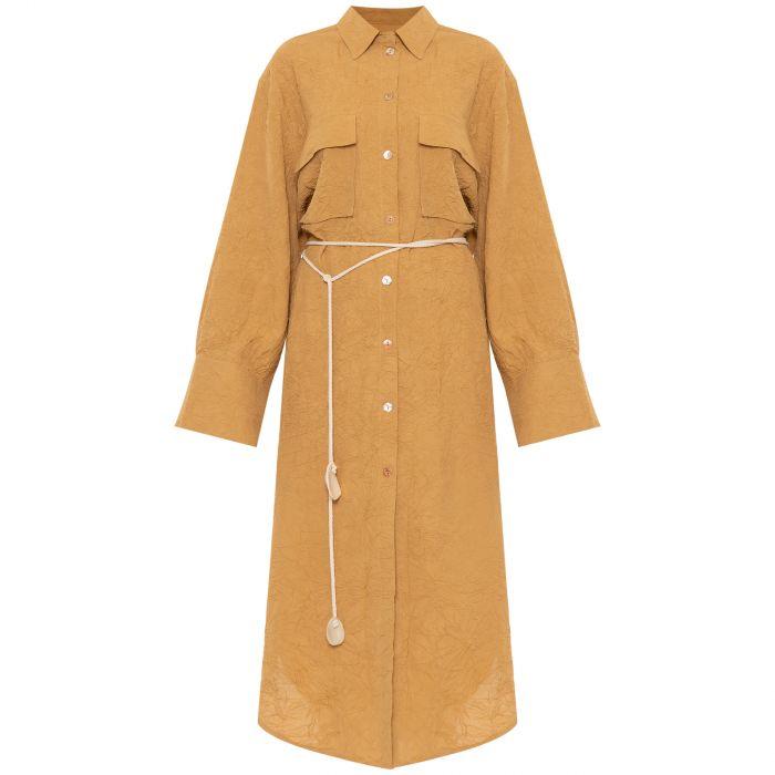 Платье Nanushka Fruma желтое