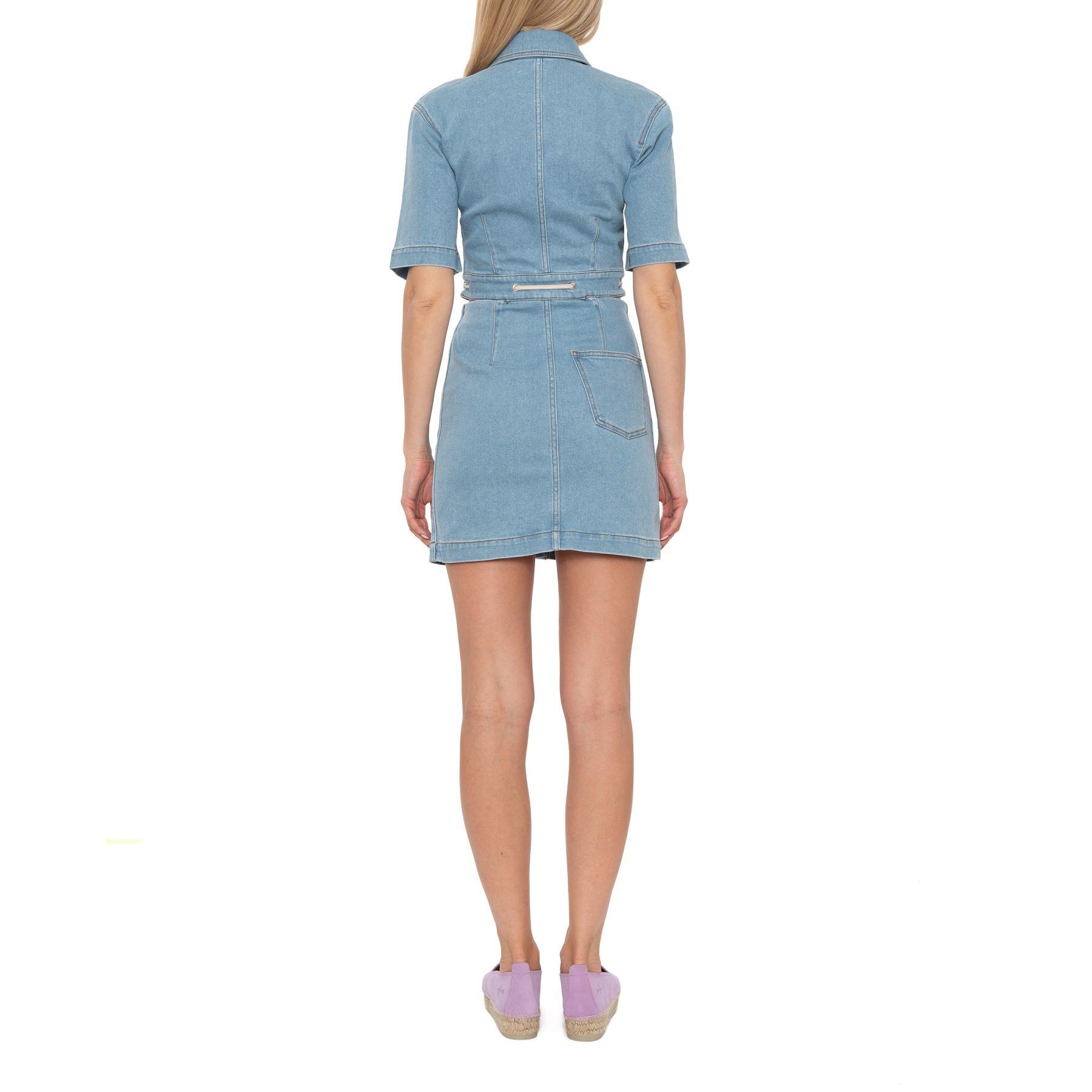 Платье Nanushka Taylor голубое