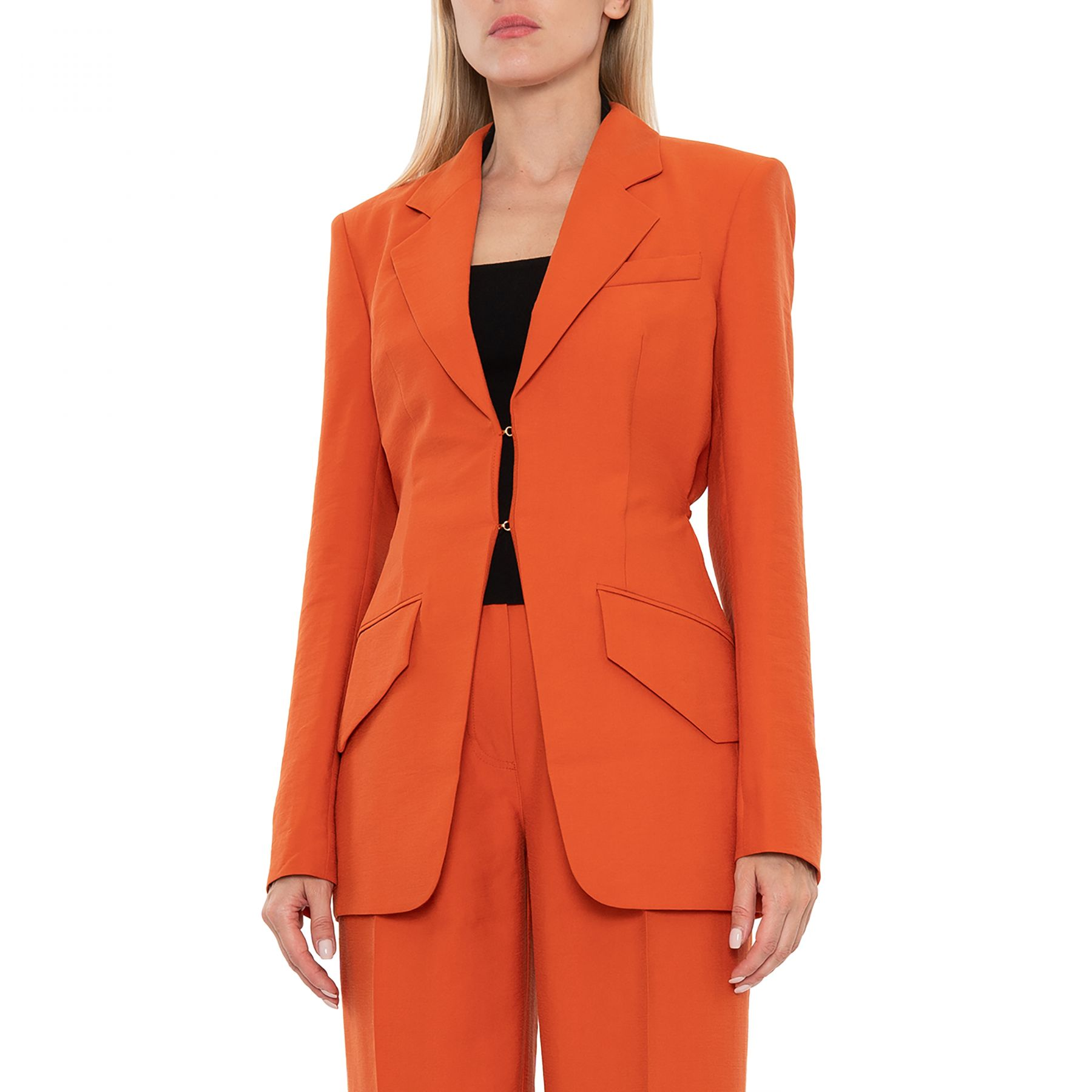 Жакет  Nanushka Lydia оранжевый