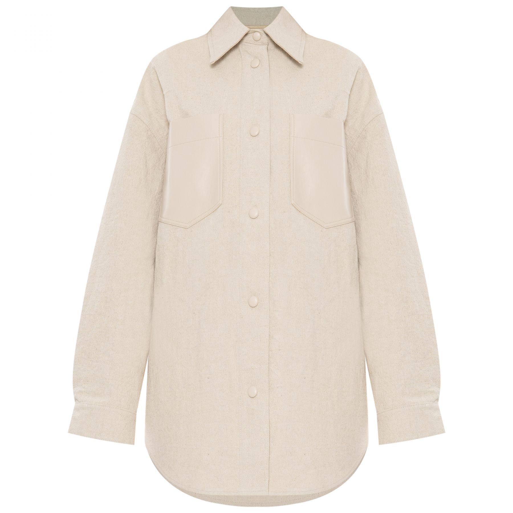 Рубашка с длинными рукавами Nanushka Reign светло-бежевая