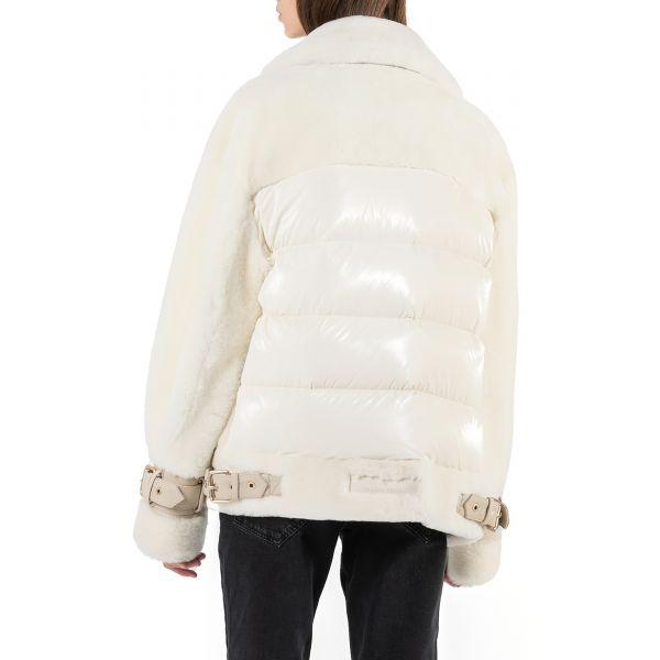 Куртка меховая Nicole Benisti GRAND молочная
