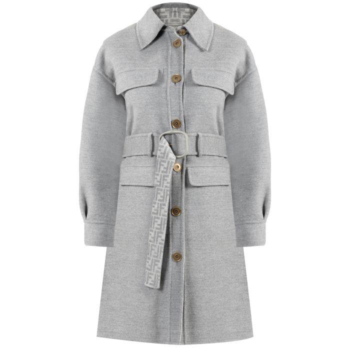 Пальто Fendi серое