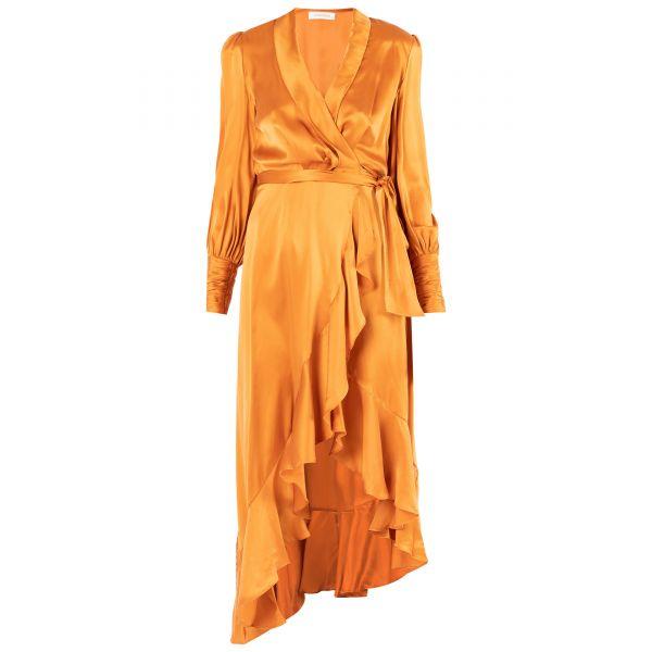 Платье Zimmermann оранжевое