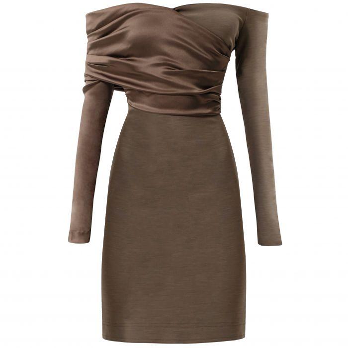 Платье Fendi коричневое