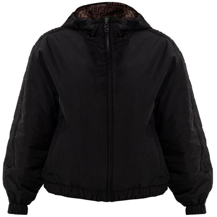 Ветровка Fendi черно-коричневая
