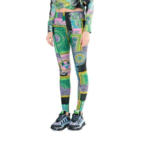 Леггинсы Versace BAROCCO PATCHWORK разноцветные
