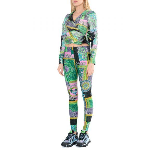 Блуза Versace BAROCCO PATCHWORK разноцветная