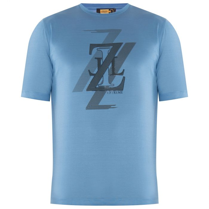 Футболка Zilli голубая