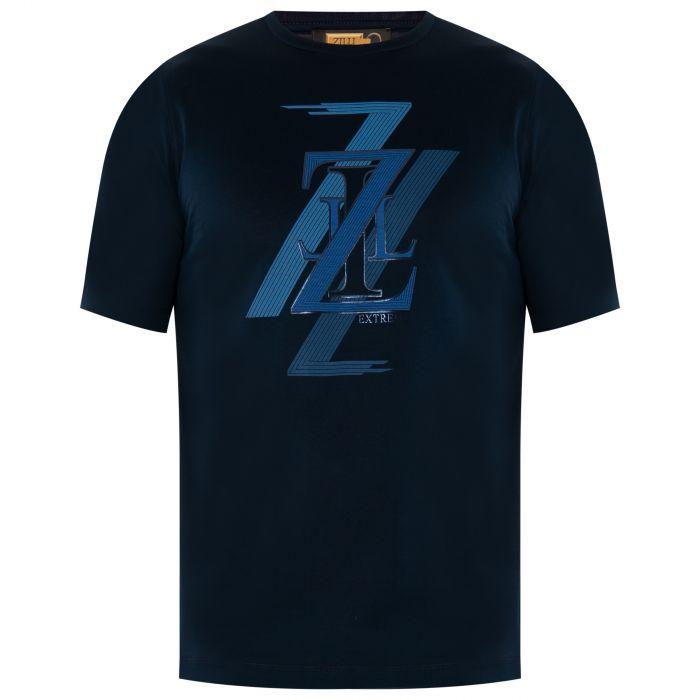 Футболка Zilli темно-синяя