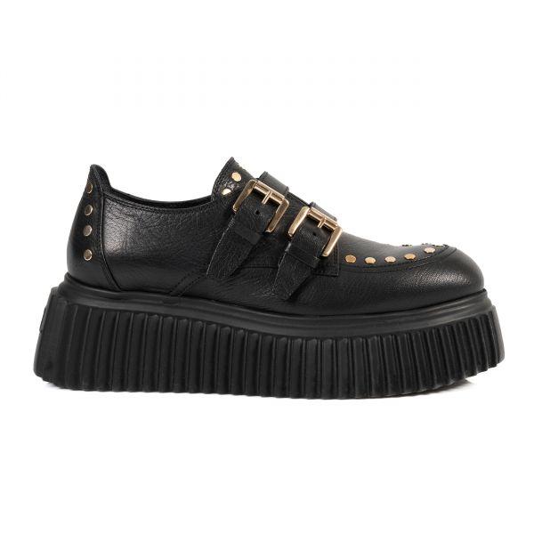 Туфли без каблука AGL черные