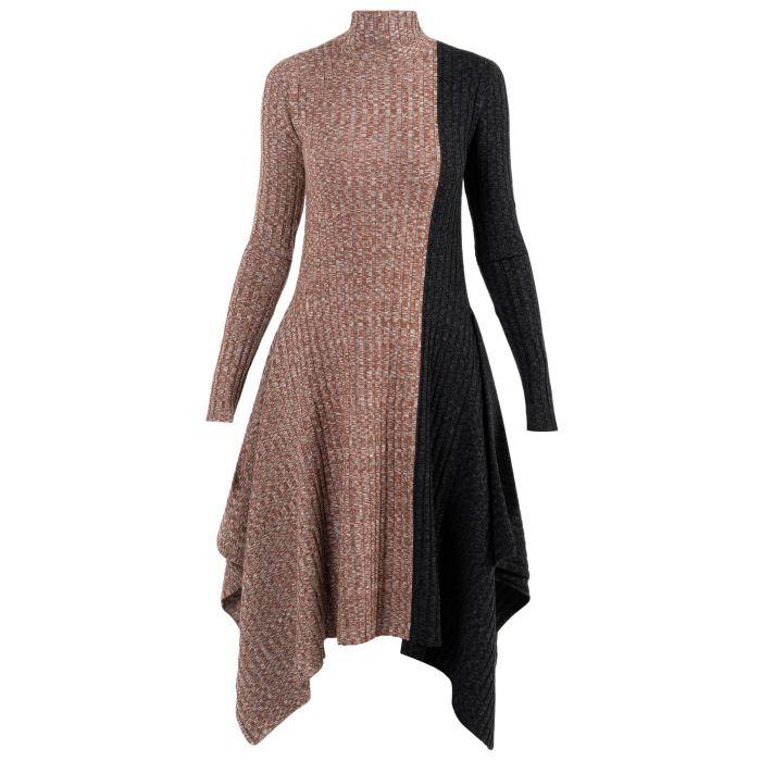 Платье J.W.Anderson черно-коричневое