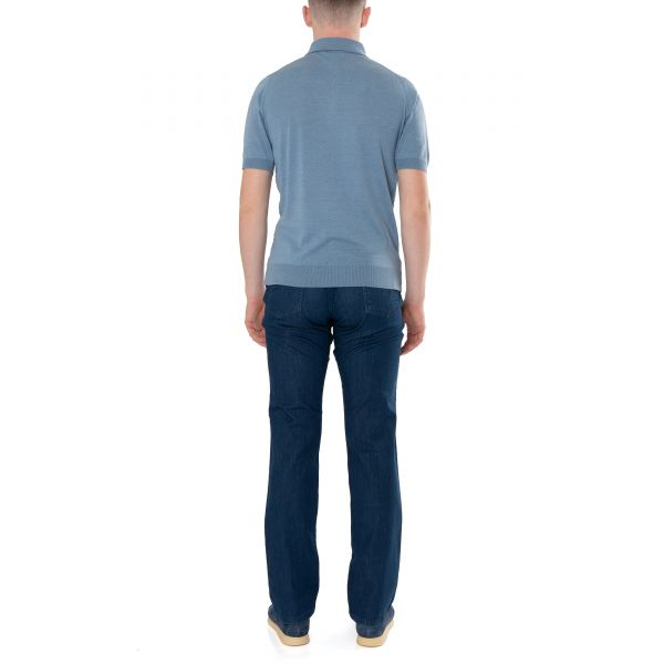 Поло Castangia серо-голубое