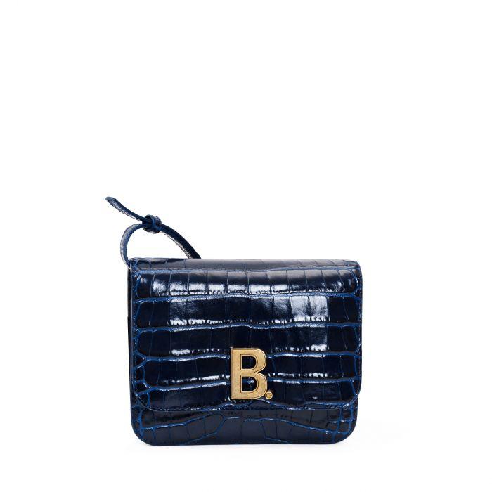 Сумка Balenciaga B. Small темно-синяя