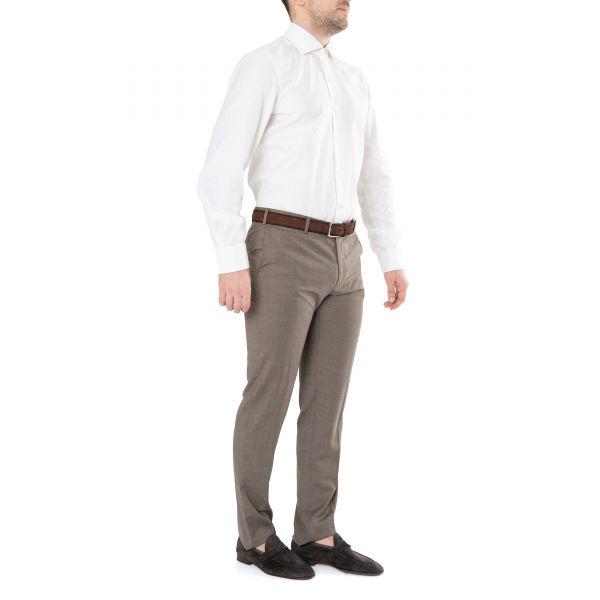 Рубашка с длинными рукавами Barba Napoli молочная