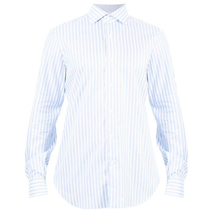 Рубашка с длинными рукавами Barba Napoli светло-голубая