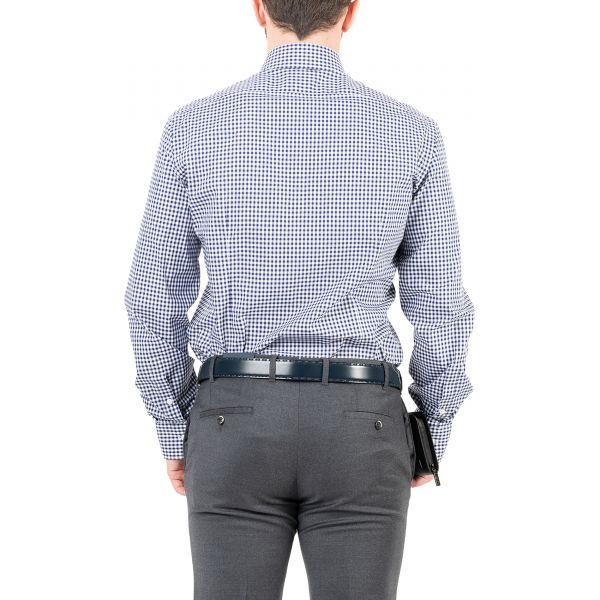 Рубашка длин.рук. Barba Napoli сине-белая