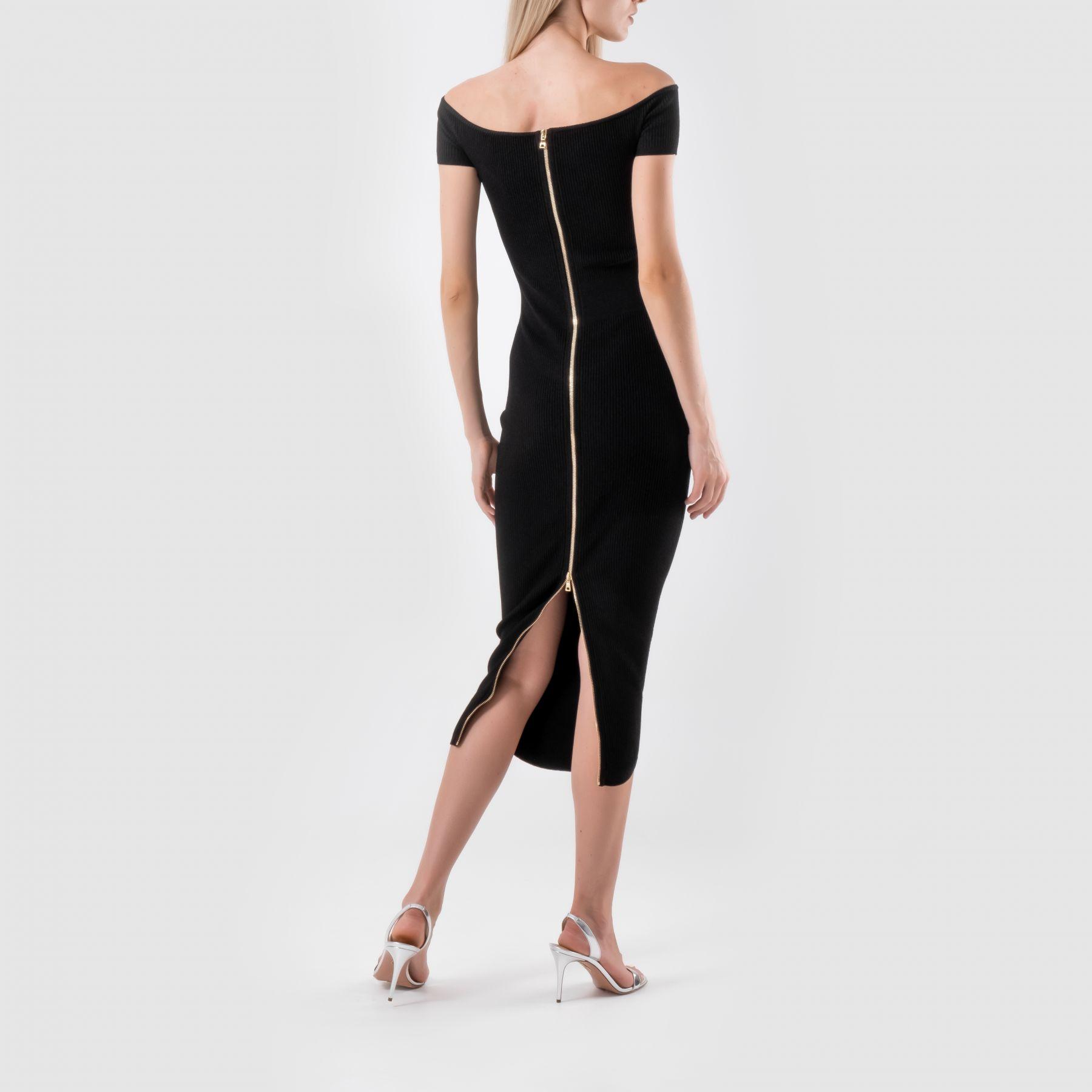Платье Balmain черное