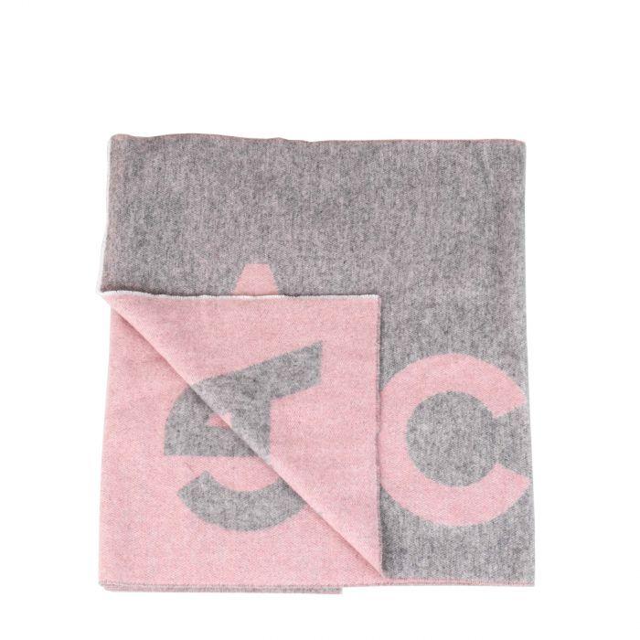 Шарф Acne Studios серо-розовый
