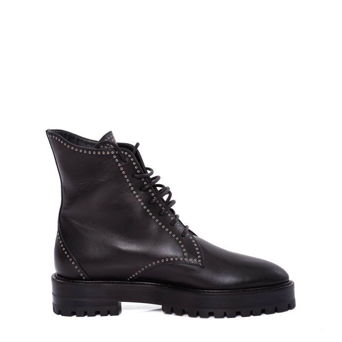 Ботинки флет Alaia черные