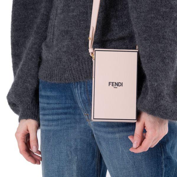 Сумка Fendi VERTICAL BOX розовая