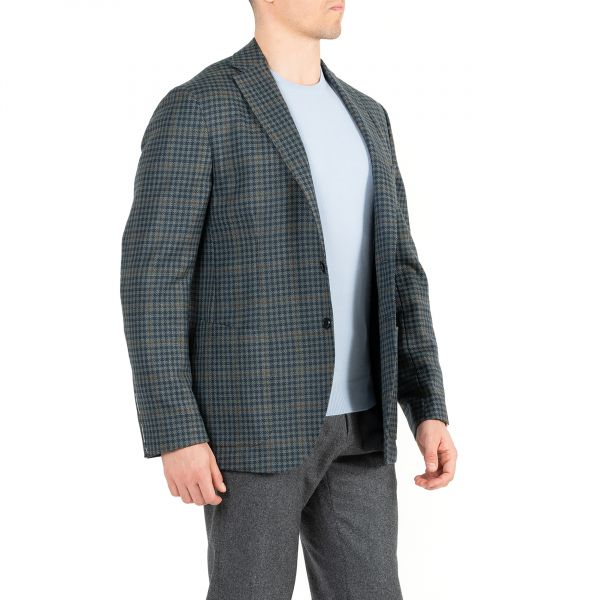 Пиджак Luigi Borrelli темно-зеленый