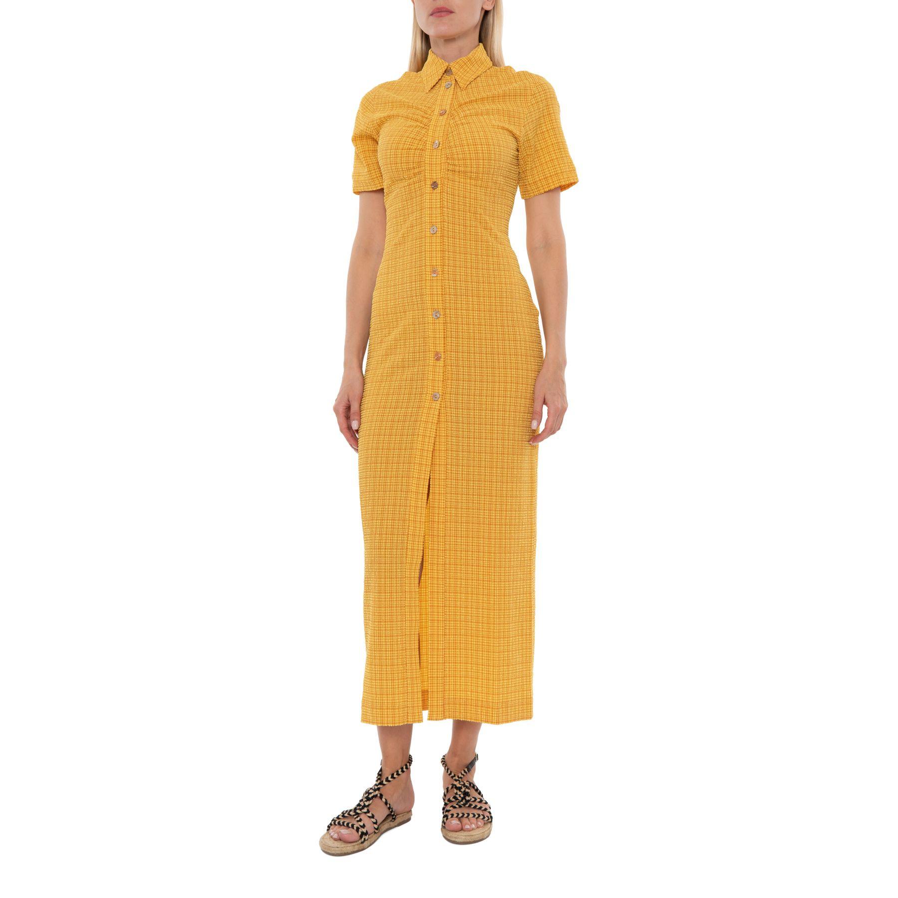 Платье Nanushka Sabri желтое