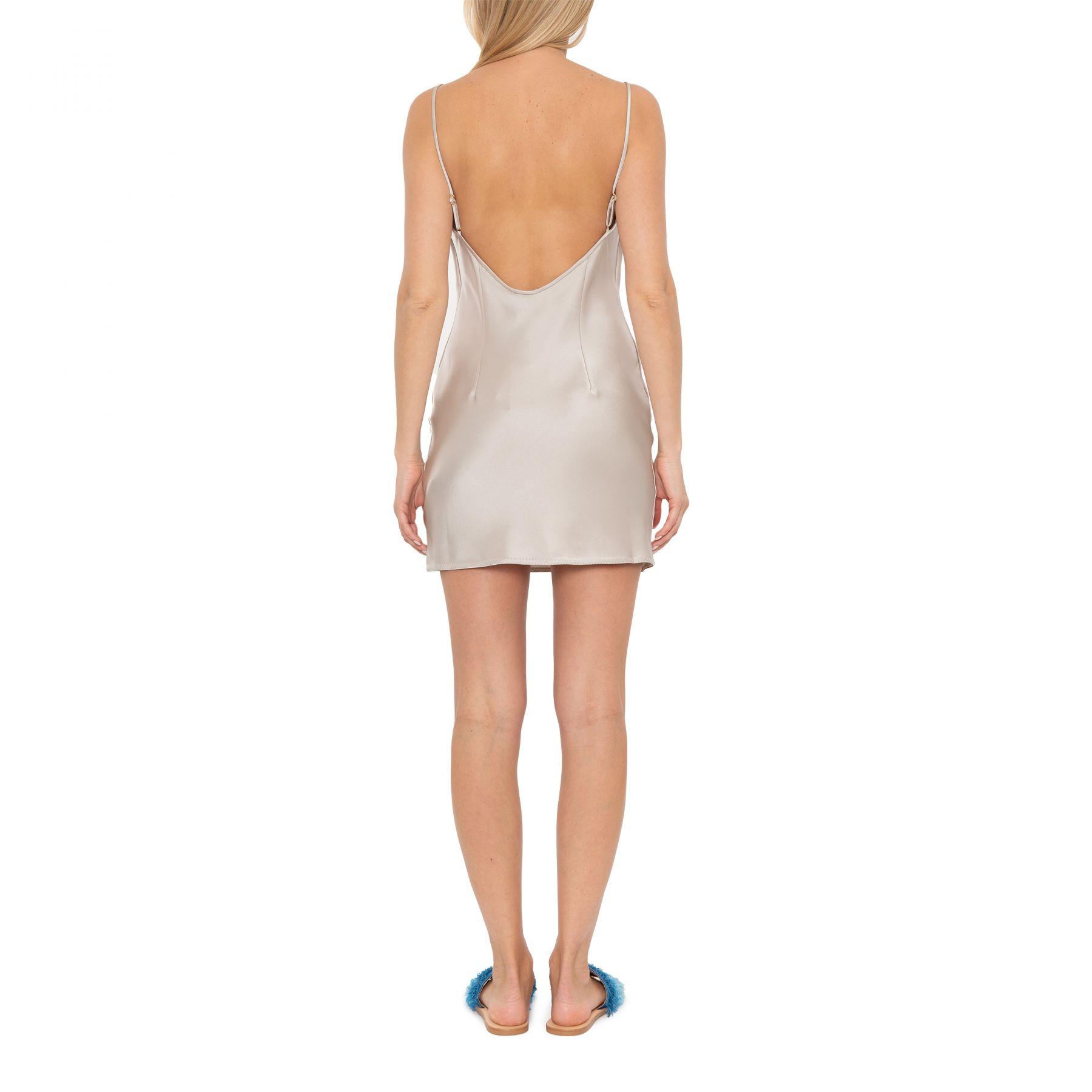 Платье Nanushka Lotti кремовое
