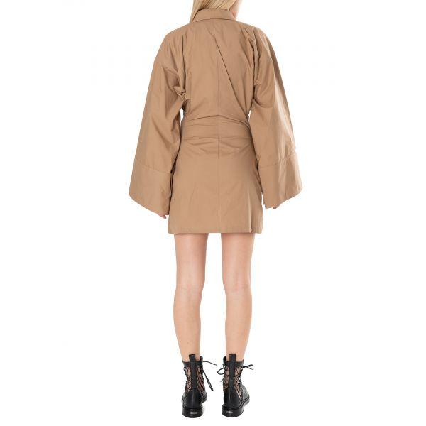 Платье The Attico бежевое