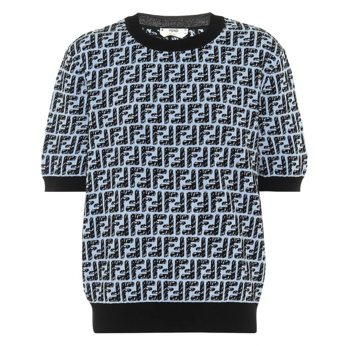 Пуловер Fendi голубой
