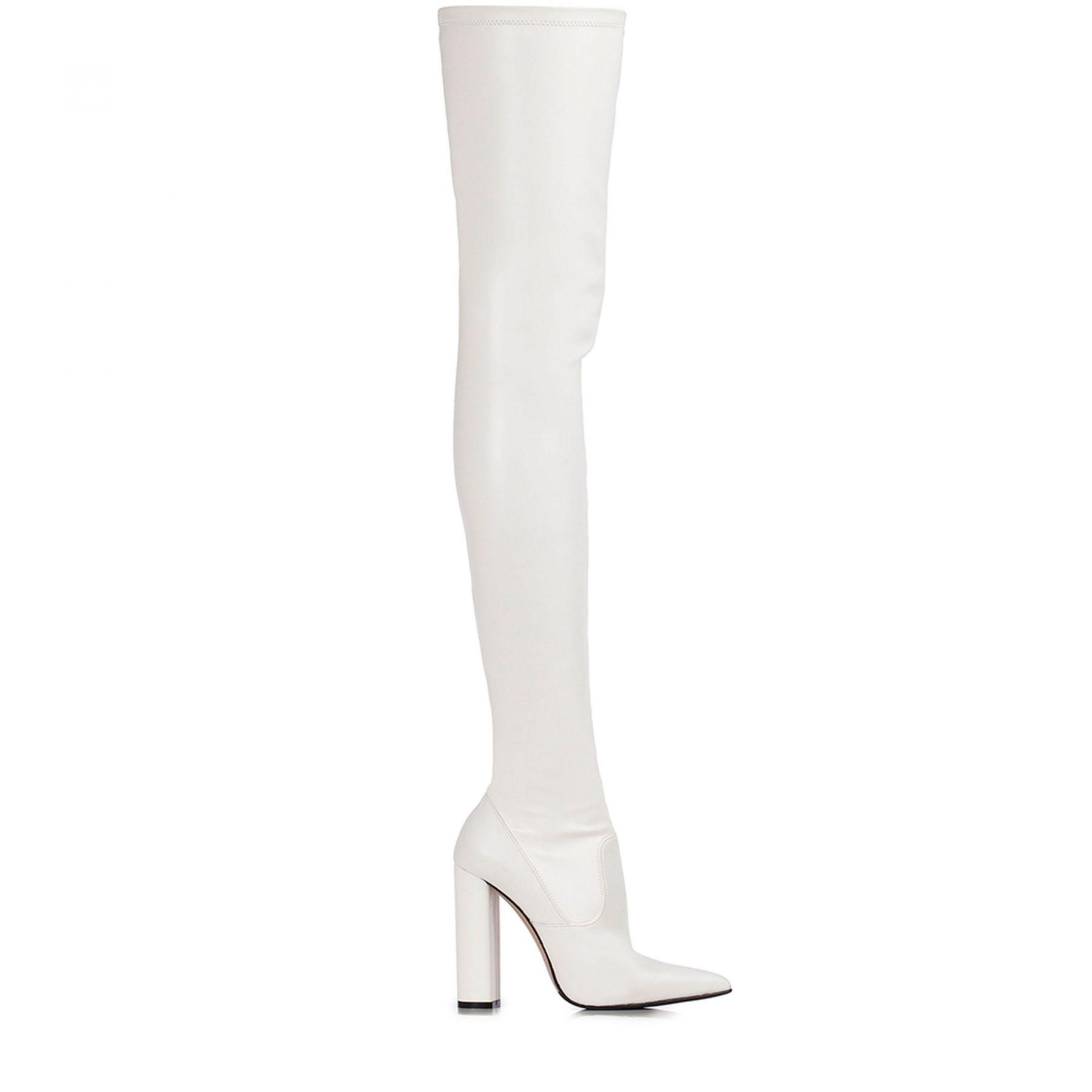 Ботфорты Le Silla белые
