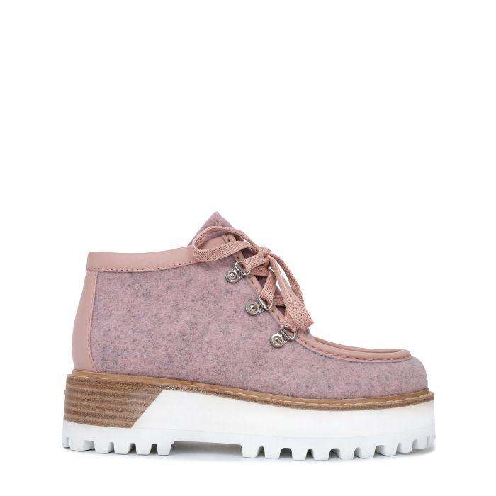 Ботинки флет Le Silla розовые