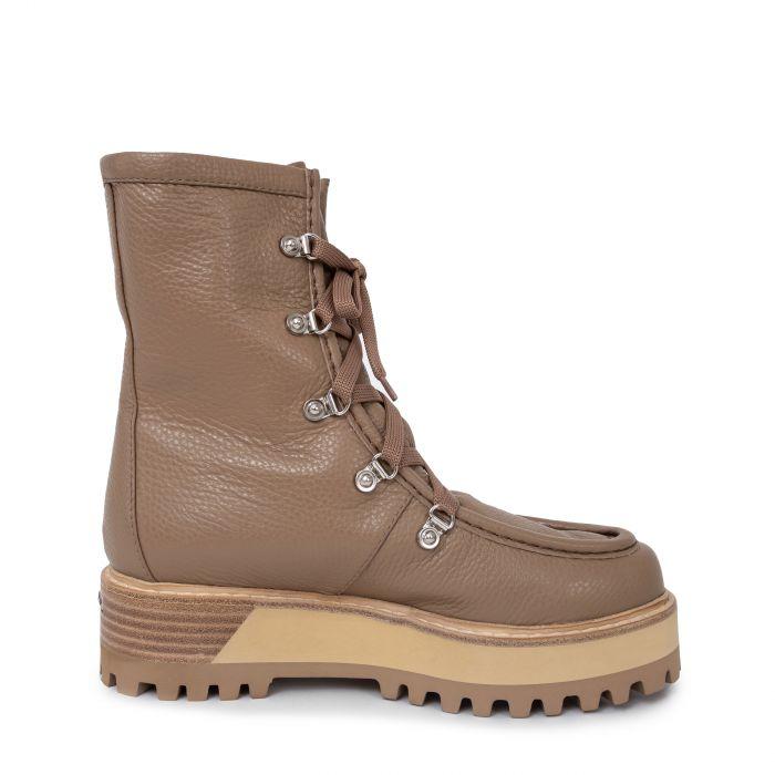Ботинки флет Le Silla бежевые