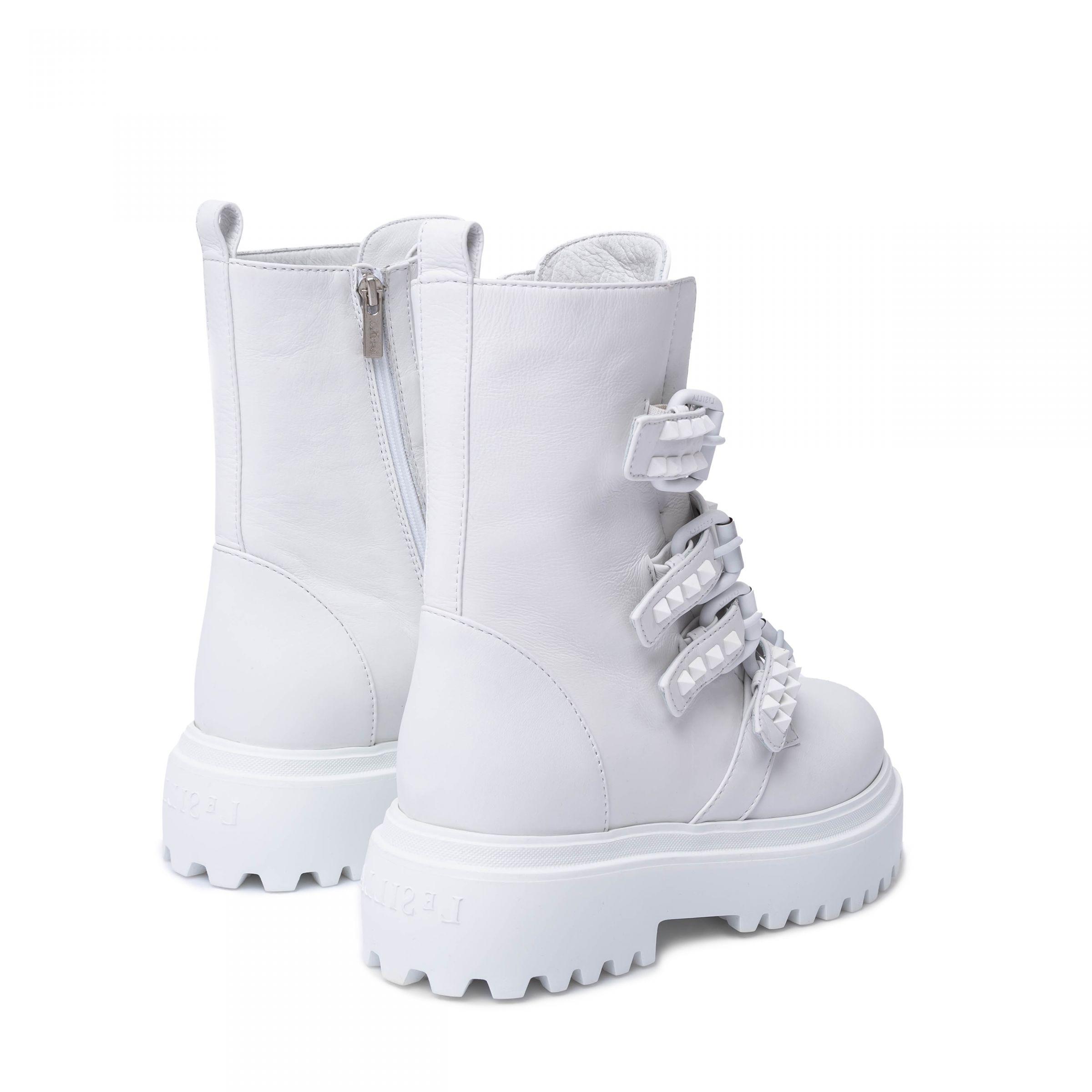 Ботинки флет Le Silla белые