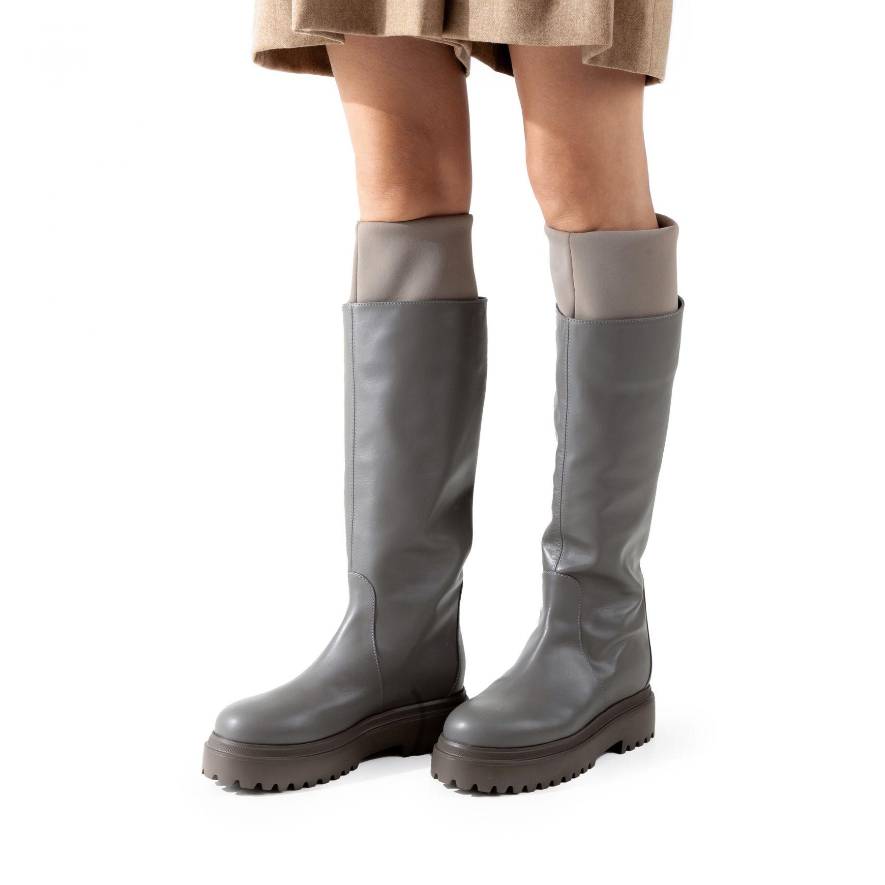 Сапоги флет Le Silla Ranger серые
