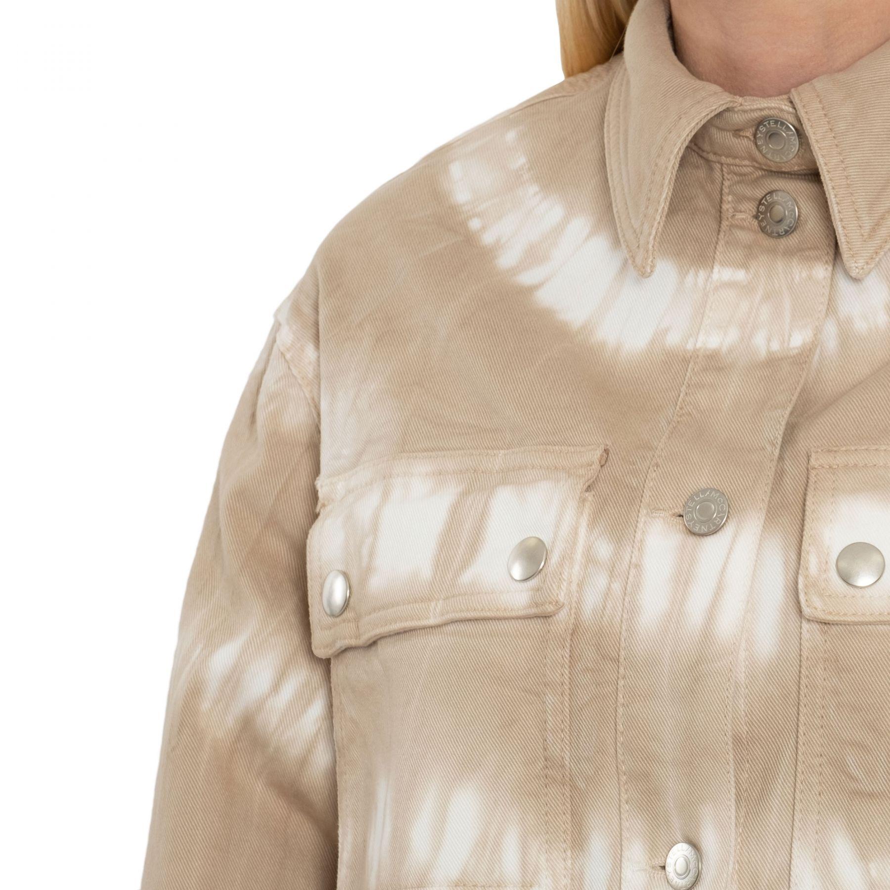Рубашка с длинными рукавами Stella McCartney Tie-Dye бежевая