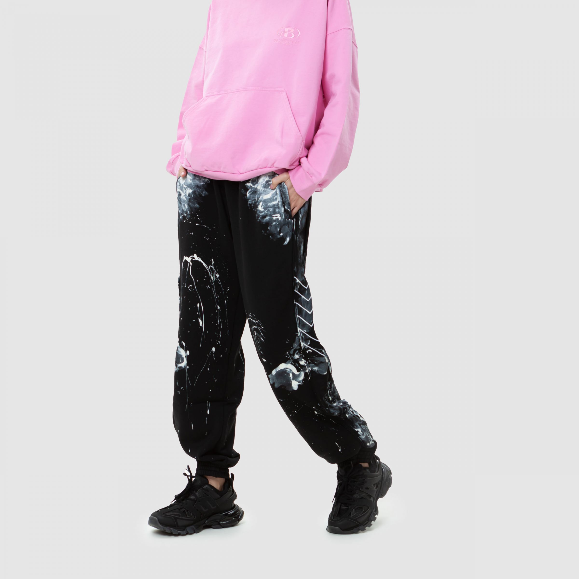 Кроссовки Balenciaga TRACK CLEAR SOLE черные