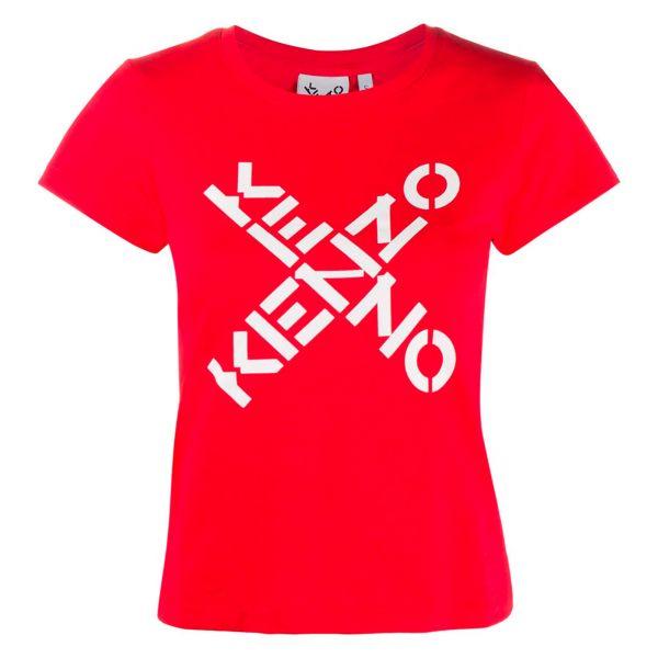 Футболка Kenzo Big X красная