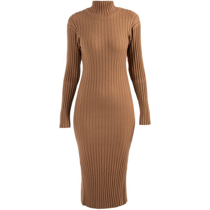 Платье длинное Kenzo коричневое
