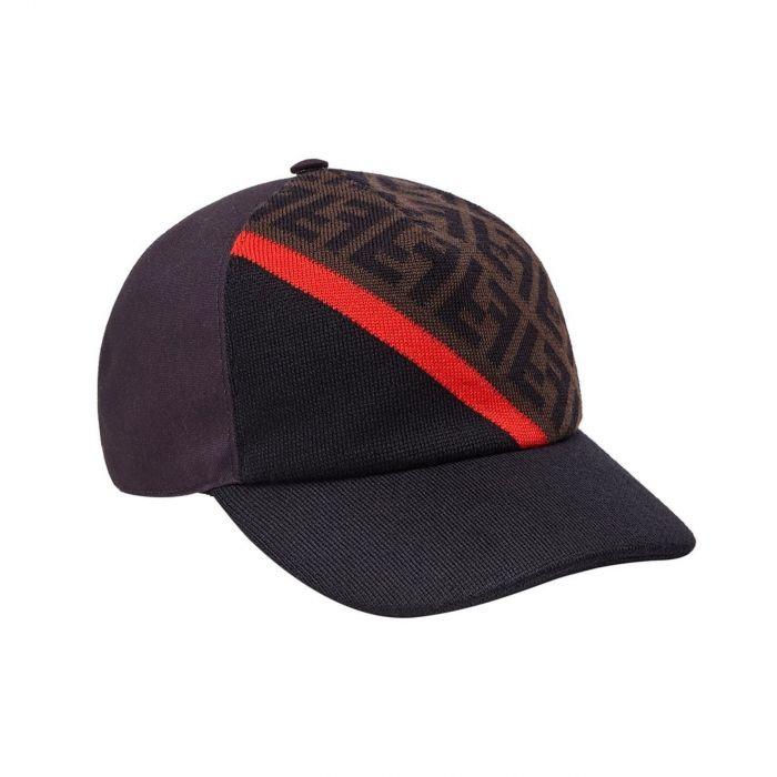 Бейсболка Fendi черно-коричневая