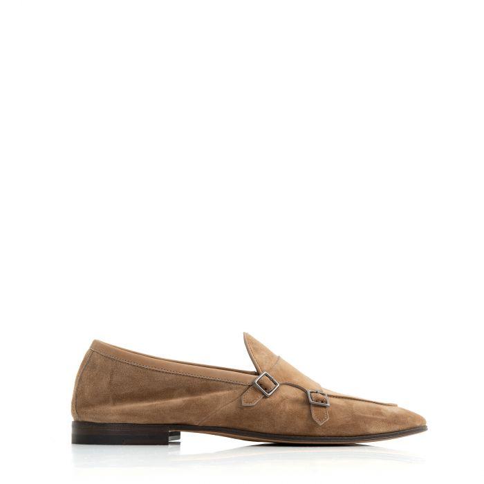 Туфли-монки Henderson бежевые