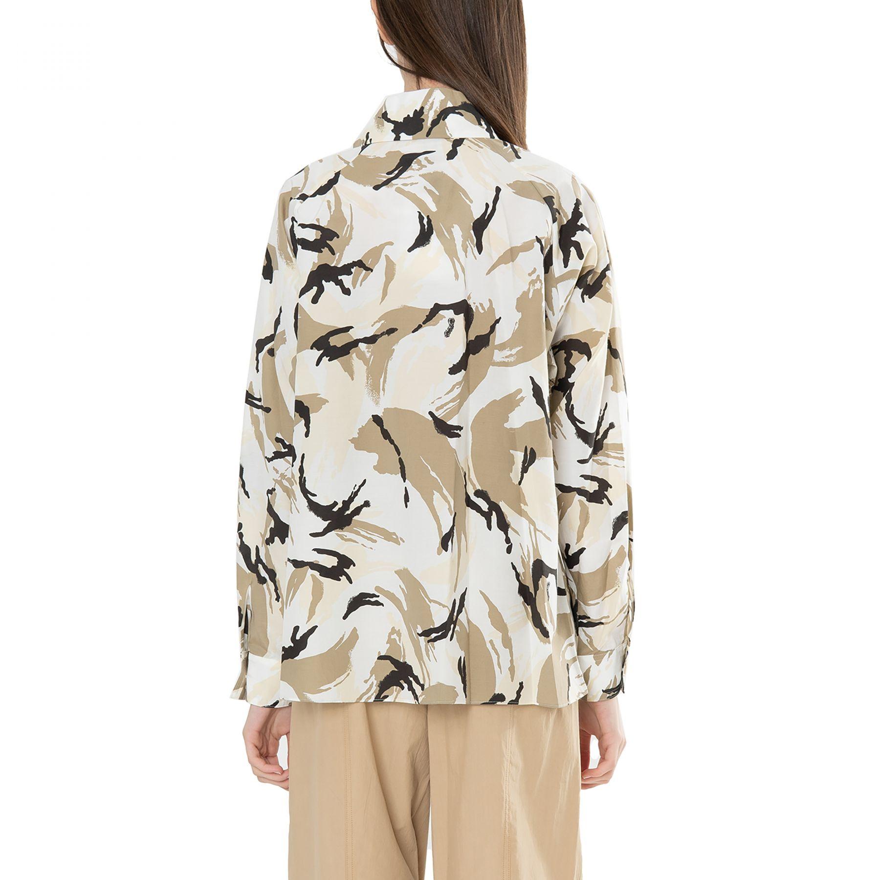 Рубашка с длинными рукавами Kenzo бело-бежевая