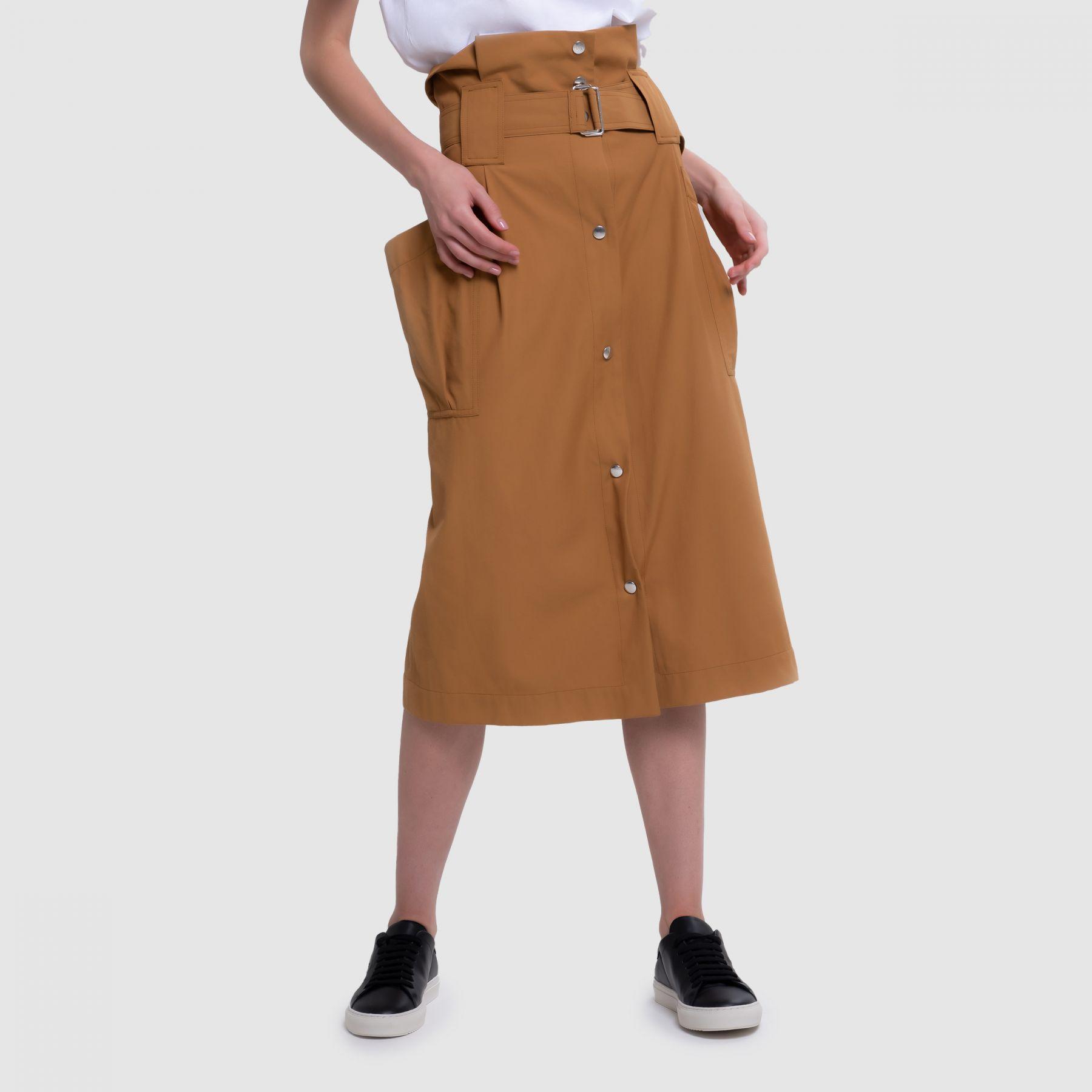 Юбка длинная Kenzo оранжевая