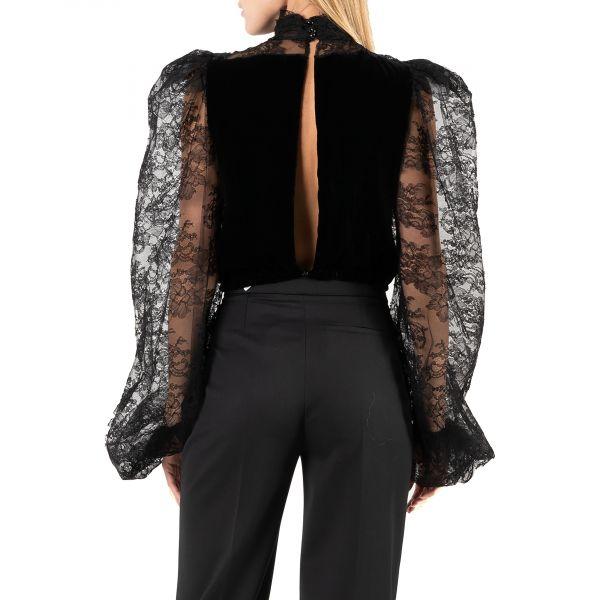 Блуза The Attico черная