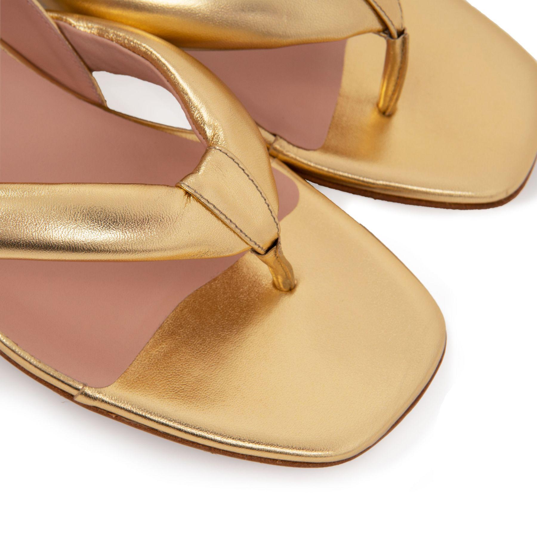 Шлепанцы Gia Bora 02 золотые