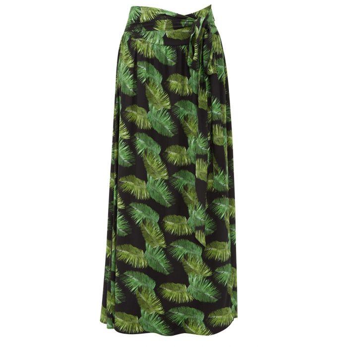 Юбка длинная Melissa Odabash Elsa  черно-зеленая