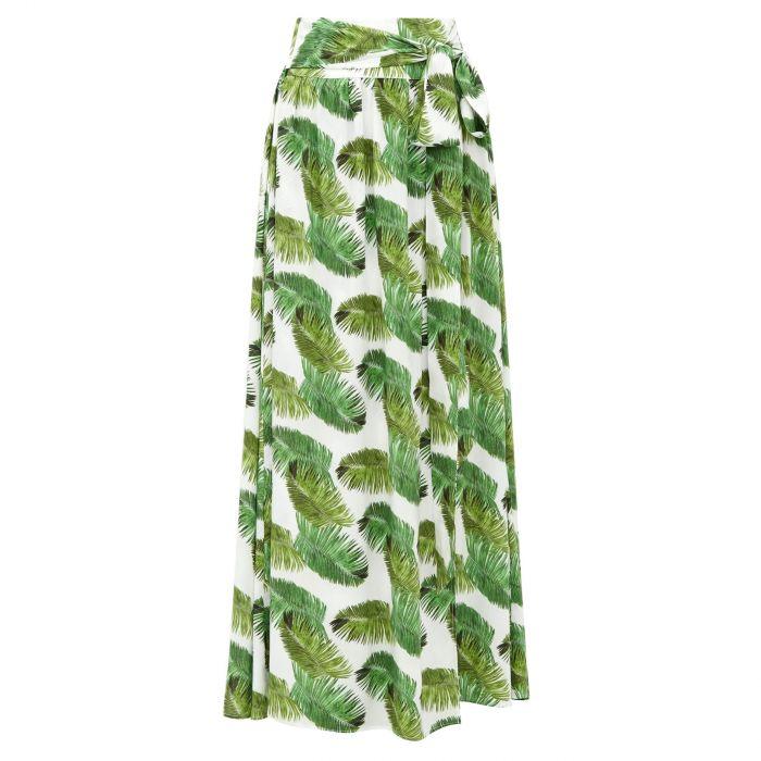 Юбка длинная Melissa Odabash Elsa  бело-зеленая